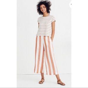 🆕 Huston Pull-On Crop Pants Evelyn Stripe Sz L